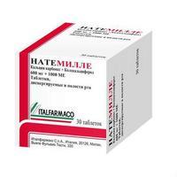 Натемилле таблетки диспергируемые 600 мг+1000 МЕ 30 шт.