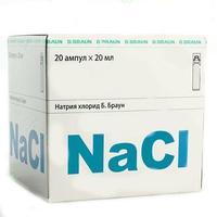 Натрия хлорид Б Браун р-р для инъекций 0.9% 20 мл п/э ампулы 20 шт.