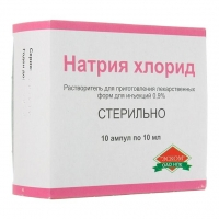 Натрия хлорид р-р для инъекций 0.9% 10 мл ампулы 10 шт.