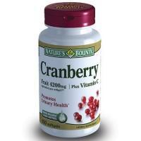Нэйчес баунти концентрат ягод клюквы, равный 4200мг свежих ягод, с витамином с капс. №100 (бад)