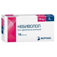 Небиволол таблетки 5 мг 14 шт.