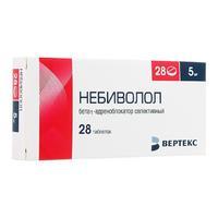 Небиволол таблетки 5 мг 28 шт.