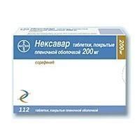 Нексавар таблетки покрыт.плен.об. 200 мг 112 шт.