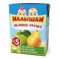 Нектар ФрутоНяНя Малышам яблочно-грушевый неосветленный 5 мес. 200мл тетрапак упак.