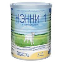 Нэнни 1 смесь на основе натурального козьего молока с пребиотиками 0-6 мес. 400 г