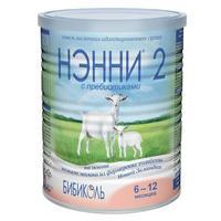 Нэнни 2 смесь на основе натурального козьего молока с пребиотиками 6-12 мес. 400 г