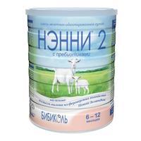 Нэнни 2 смесь на основе натурального козьего молока с пребиотиками 6-12 мес. 800 г