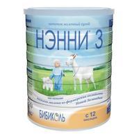 Нэнни 3 смесь на основе натурального козьего молока с 12 мес. 400 г