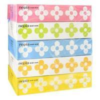 Nepia салфетки бумажные двухслойные Nepi Nepi с цветочным ароматом 5х160 шт.