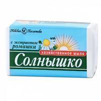 Невская косметика Мыло хозяйственное Солнышко ромашка 140г