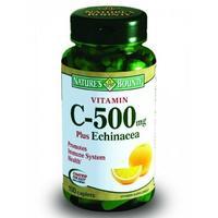 Нэйчес баунти витамин с плюс эхинацея таблетки, 100 шт.