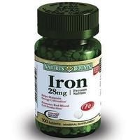 Нэйчес баунти железо таблетки 28 мг, 100 шт.