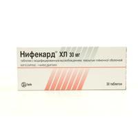 Нифекард хл таблетки ретард 30 мг, 30 шт.