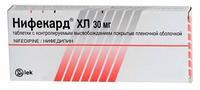Нифекард ХЛ таблетки с модиф.высв.покрыт.плен.об. 30 мг 60 шт.