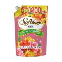 Nihon Detergent Антибакт. кондиционер-ополаскиватель Softener floral с нежным цветоч. аром. Мягк уп 1200мл