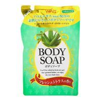 Nihon Detergent крем-мыло для тела Wins Body Soup aloe с экстрактом алоэ мягкая упаковка 400 мл