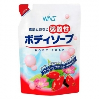 Nihon Detergent крем-мыло для тела Wins Mild Acidity Body Soup с экстрактом шиповника мягкая упаковка 400 мл
