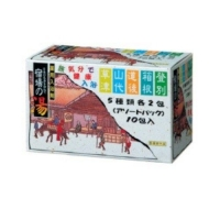 Nihon Detergent Соль для ванны Bath salts assorted pack (5 ароматов по 2 шт) 25 гр х 10шт