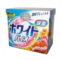 Nihon Detergent стиральный порошок с кондиционером White Bio Plus Antibacterail с цветочным ароматом 800 г