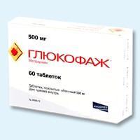 Глюкофаж таблетки 0.5 г, 60 шт.