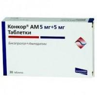 Конкор ам таблетки 5 мг+5 мг, 30 шт.
