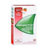 Никоретте жевательная резинка Свежие Фрукты 2 мг 30 шт.
