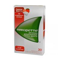 Никоретте жевательная резинка Свежие Фрукты 4 мг 30 шт.