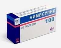 Нимесулид таблетки 100 мг, 20 шт.