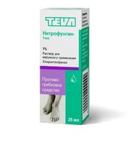 Нитрофунгин-Тева р-р для наружнего применения 25 мл флаконы