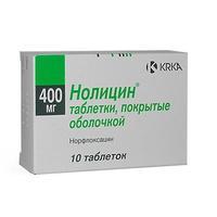 Нолицин таблетки 400 мг, 10 шт.
