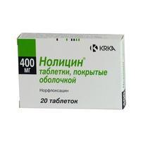 Нолицин таблетки 400 мг, 20 шт.