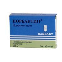 Норбактин 400мг таб. п/пл/об. х10