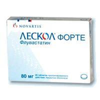 Лескол форте таблетки 80 мг, 28 шт.