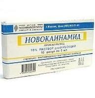 Новокаинамид ампулы 10% , 5 мл , 10 шт.