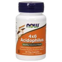 Now Acidophilus Ацидофилус 4х6 капсулы вегетарианские 60 шт.