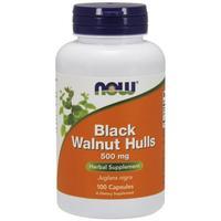 Now Black Walnut Hulls Черный орех 500 мг капсулы 100 шт.