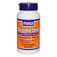 Now Bromelain Бромелайн 500 мг капсулы вегетарианские 60 шт.