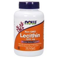Now Lecithin Лецитин соевый 1200 мг желатиновые капсулы 100 шт.