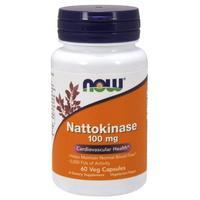Now Nattokinase Наттокиназа 100 мг капсулы вегетарианские 60 шт.