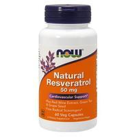 Now Natural Resveratrol Ресвератрол 50 мг капсулы вегетарианские 60 шт.