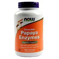Now Papaya Enzyme Энзимы Папайи жевательные таблетки 360 шт.