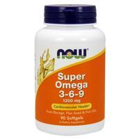 Now Super Omega Омега-3-6-9 1200 мг желатиновые капсулы 90 шт.