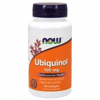 Now Ubiquinol Убихинол 100 мг желатиновые капсулы 60 шт.