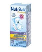 Нутрилак Премиум стерилизованная молочная смесь 0-12 мес. 200мл тетра пак