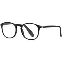 Очки корригирующие для чтения +1,5 черные матовые пластик 1 шт.