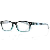 Очки корригирующие для чтения +2,0 черно-голубые с градиентом пластик 1 шт.