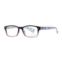 Очки корригирующие для чтения+2,5 черно-фиолетовые с градиентом пластик 1 шт.