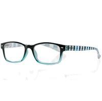 Очки корригирующие для чтения+2,5 черно-голубые с градиентом пластик 1 шт.