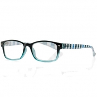 Очки корригирующие для чтения +3,0 черно-голубые с градиентом пластик 1 шт.