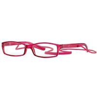 Очки корригирующие для чтения +3,0 глянцевые розовые пластик со шнурком 1 шт.